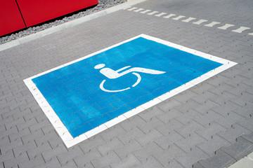 Parkplatz für Schwerbehinderte