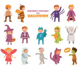 Kids costumes on Halloween.