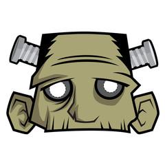 Halloween Paper Mask - Franken