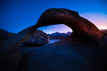Mobius Arch after Sunset Alabama Hills California