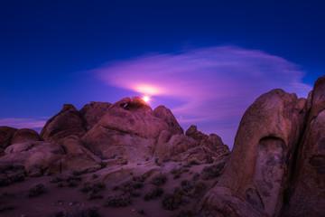 Moon Rising over Alabama Hills California