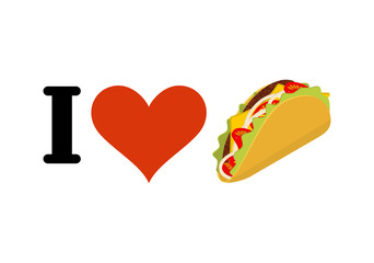 I love taco. Heart and traditional Mexican food. Tortilla chips