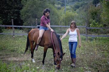 il primo approccio con l'equitazione