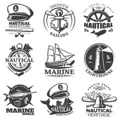 Nautical Emblem Set