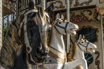 caballos de carrusel antiguo