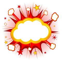 Empty cloud illustration