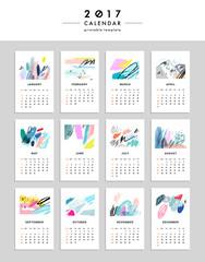 Creative Calendar 2017. Vector