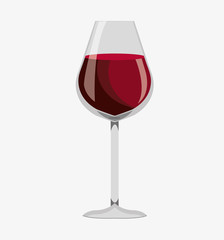wine glass label design isolated vector illustration eps 10