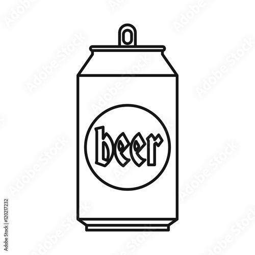 One Line Art Beer : Quot beer can in outline style isolated on white