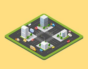 isometric urban city