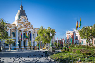 Plaza Murillo and Bolivian Palace of Government - La Paz, Bolivia