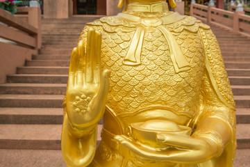 Hand of Buddha statue.