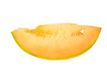 Piece of a melon of orange color