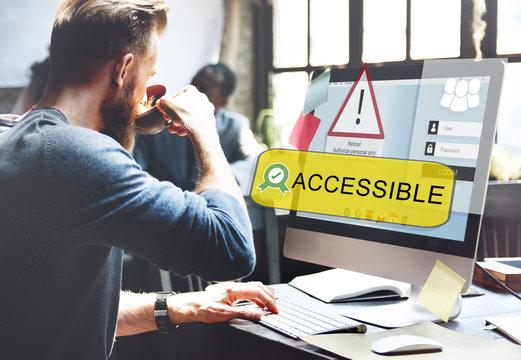 Access Allowed Entrust Password Secured Concept