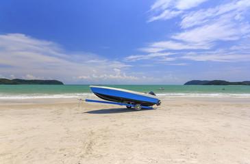 Boat at Cenang beach, Langkawi, Kedah, Malaysia.