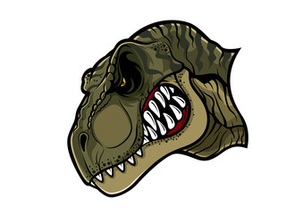 Angry T-Rex Head
