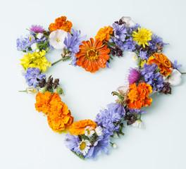 symbol of love of wildflowers
