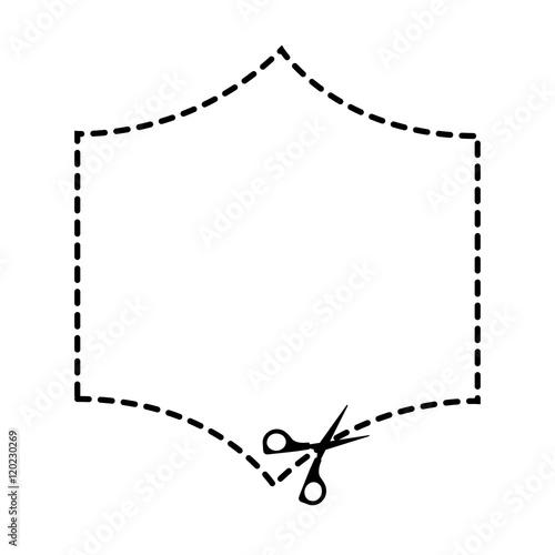 Cut scissor frame lines figure vector illustration design fichier - Figure libre architecture ...