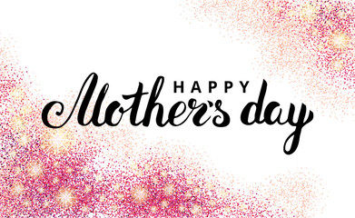 Mother day pink glitter background2