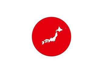 日本 日本列島と日の丸