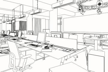 Computerarbeitsplätze (Skizze)