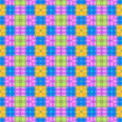 Colored checkered seamless pattern on cloth or towel.