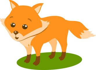 Fox, vector Illustration TOn The White Background