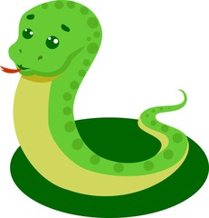Snake On A White Background Vector Illustration