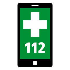 notruf 112 smartphone grün neg
