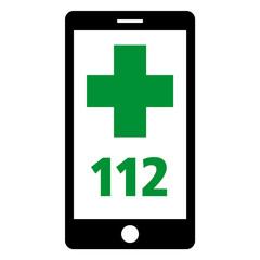 notruf 112 smartphone grün pos