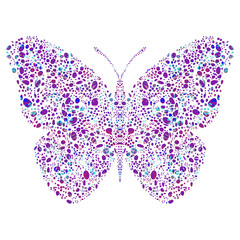 Colorful figured butterfly, decorative butterfly