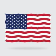 USA flag zigzag isolated on background