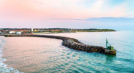 Deurstickers Noord Europa Port of Hirtshals at sunset - Denmark