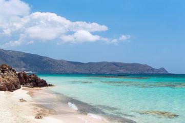 Wall Mural - Sandy beach in Elafonisi, Crete, Greece