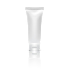 Blank cream tube,Vector illustration