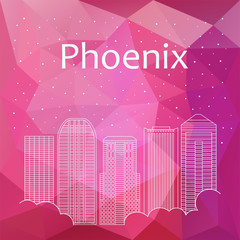 Phoenix for banner, poster, illustration, game, background.