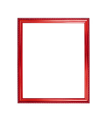 red color wooden photo frame background