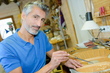 an artisan in the workshop