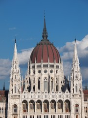 The Parliament of Hungary building in Budapest