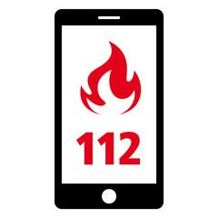 notruf 112 smartphone feuerwehr pos