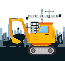 machinery construction design isolated vector illustration eps 10