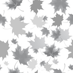 Seamless background pattern of autumn leaves. Falling Leaves