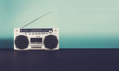 Retro music header