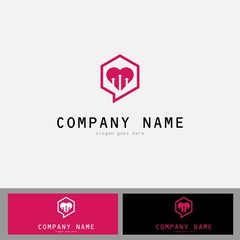 Dating love chat romantic heart icon flat web sign symbol logo label set