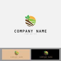 Round plant green logo