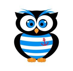 Decorative Vector Owl. sailor vector