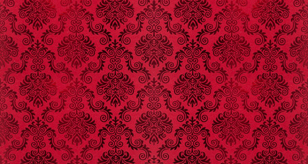 Old damask wallpaper background