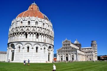 """Pisa - Baptisterium auf dem Piazza der Miracoli (""""Platz der Wunder"""")"""