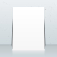 vertical white posters flyers mockup.
