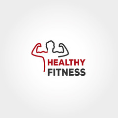 healthy Fitness Logo